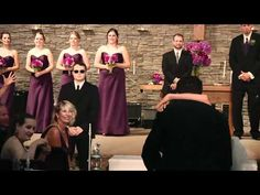 Funny Wedding Dance to  Journey - Ceremony Surprise!...... Melissa Please set this up at my wedding!
