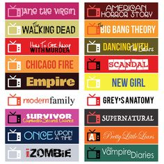 US TV Series Fall 2015 Sticker Planner // Perfect for Erin Condren Life Planner