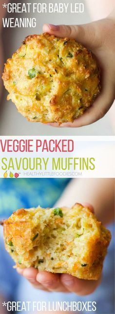 Baby food recipes - Savoury muffins packed with four different vegetables Perfect for the lunchbox and great for babyled weaning savourymuffin vegetablemuffin lunchboxideas babyledweaning blw via Baby Food Recipes, Snack Recipes, Cooking Recipes, Healthy Muffins For Toddlers, Healthy Recipes For Toddlers, Baby Lead Weaning Recipes, Cooking Cake, Savoury Recipes, Chicken Recipes
