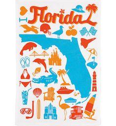 Florida tea towels - Google Search