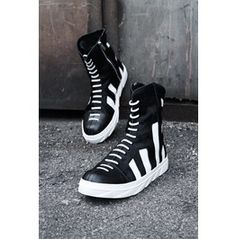 Fur & Leather Line High Top Sneaker