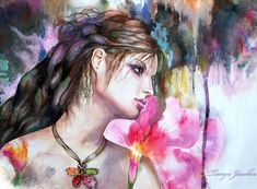 violet by tanya and coffee - Mixed Media by Tanya Jacobsz  <3 <3