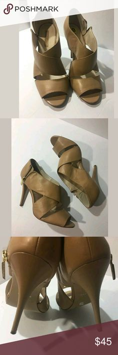NINE WEST Tapestry Strappy Heels Excellent used condition.   4.5 inch heels.   AB Nine West Shoes Heels