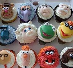 cupcake ideas with different images. CUTENESS!!