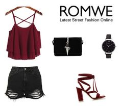 """""""Romwe."""" by minna-998 ❤ liked on Polyvore featuring Topshop, Gianvito Rossi, Cesare Paciotti and Olivia Burton"""