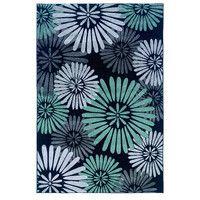 Threadbind Masi-Manimba Black/Blue Area Rug & Reviews | Wayfair
