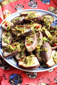 aubergines vapeurs à la chinoise - steamed eggplant with chinese sauce