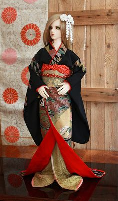 BJD kimono, 2 kimono set. My friends doll Haru (Luts, Abadon).