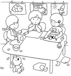 Preschool Lessons, Craft Activities For Kids, Crafts For Kids, Coloring For Kids, Adult Coloring, Coloring Pages, Preschool Birthday, Picture Comprehension, Kids English