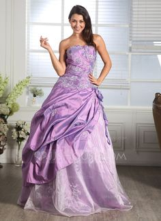 Quinceanera Dresses - $172.99 - Ball-Gown Sweetheart Floor-Length Taffeta Organza Quinceanera Dress With Ruffle Lace Beading Flower(s) (021005169) http://jjshouse.com/Ball-Gown-Sweetheart-Floor-Length-Taffeta-Organza-Quinceanera-Dress-With-Ruffle-Lace-Beading-Flower-S-021005169-g5169