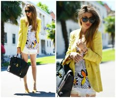 YELLOW SUNSHINE - t-shirt con stampa outfit chic summer 2013