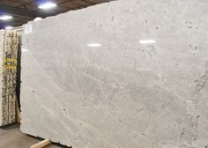 Himalaya White (granite): This was one of the cleanest white granite slabs we came across.