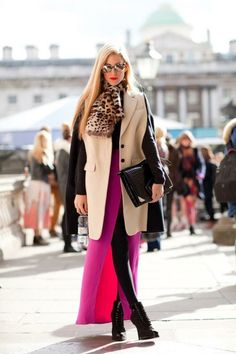color + classic trench + leopard