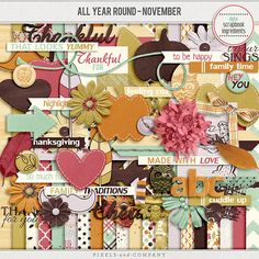 All Year Round November by Digital Scrapbook Ingredients at Pixels and Company