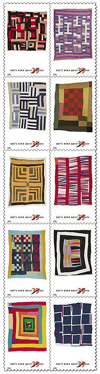 Gee's Bend Quilt Stamps . I actually have this pack of stamps.  What a gem.