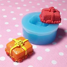 005LBJ Kawaii Cute Christmas 3D Holiday Present Case Gift Box Fondant Silicone Mold Polymer Clay by UIE on Amazon