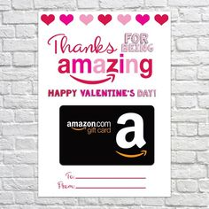 Valentine's Day Gift Card Holder, Thank You Gift Card Holders, Valentine's Day Gift, Valentine Gift Amazon Card, Amazon Gifts, Teacher Cards, Teacher Gifts, Happy Valentines Day, Valentine Day Gifts, Ulta Gift Card, True Gift, Thank You Gifts