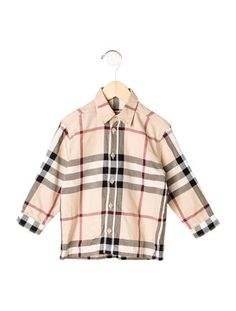 Burberry Boys' Nova Check Button-Up Shirt