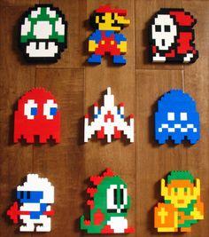 Use LEGO® bricks to create pixel art. Lego Mario, Lego Design, Mosaico Lego, Lego Projects, Projects To Try, Legos, Pixel Art, Perler Beads, 8bit Art