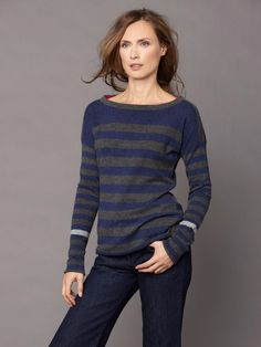 LABEL+thread - Luxe Striped Pullover
