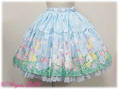 Happy Garden Skirt Sax