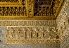 Ceiling Details In The Mausoleum Of Mohammed V  by Lindley Johnson