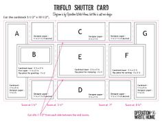 excellent tutorial with pdf dl for diminsions: Trifold Shutter Card