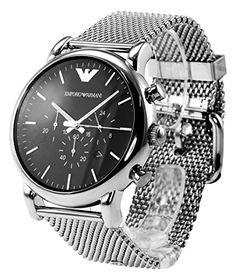 Emporio Armani Herren-Armbanduhr Chronograph Quarz Edelstahl AR1808 - http://uhr.haus/emporio-armani/emporio-armani-herren-armbanduhr-chronograph