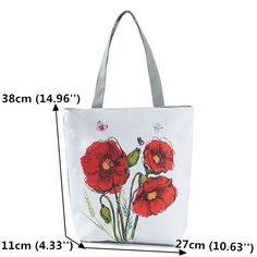 Women Ink Painting Flower Canvas Handbag Print Shoulder Bag is designer, see other cute bags on NewChic. Canvas Totes, Floral Tote Bags, Flower Canvas, Canvas Handbags, Cute Bags, Ink Painting, Women's Flats, How To Get Money, Republic Of The Congo