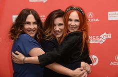 Director/Screenwriter Jill Soloway and actors Kathryn Hahn and Juno Temple share a hug before the premiere of their film Afternoon Delight during the 2013 Sundance Film Festival. The film opens in select cities today.