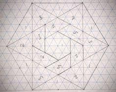 Lily's Quilts: Hexalong - in between the lines -- omgomgomgomg