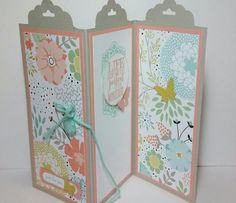 Trifold scalloped tag topper punch card. By Jeanie Tavitas-Williams. #stampinup