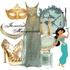 """Jasmine Masquerade"" by amarie104 on Polyvore"
