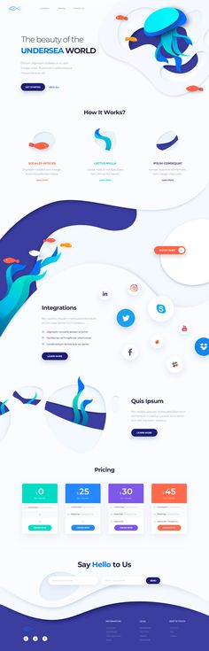 Your landing page design is essential to your site's success. Here's how to get it right. Cool Web Design, Creative Web Design, Web Ui Design, Page Design, Layout Design, Interface Web, Interface Design, Website Design Inspiration, Kit Ui
