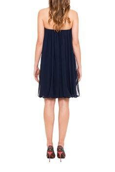 badgley mischka, dress, cocktail dress, summer dress, bustier, blue dress, location robe, my couture corner