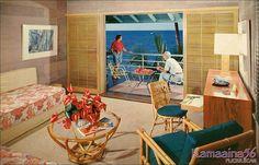 house hawaii room vintage interior - Google zoeken