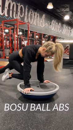 Bosu Workout, Gym Workout Videos, Gym Workout For Beginners, Fitness Workout For Women, Fitness Tips, Health Fitness, Beginner Gym Workout Routine, Workouts For Women, Gym Tips For Beginners