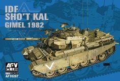 AFV Club 1/35 Israeli Defense Force IDF SHO'T Kal GIMEL 1982 w/blazer Explosive Reactive Armour 1:35 Scale Detailed Plastic Model Tank Kit. New to Hobbies www.alwayshobbies.com