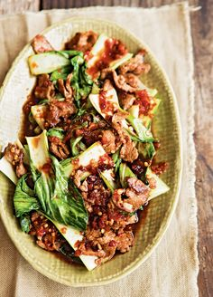 Spicy Ginger Beef & Bok Choy   Williams-Sonoma Taste but try broccoli instead
