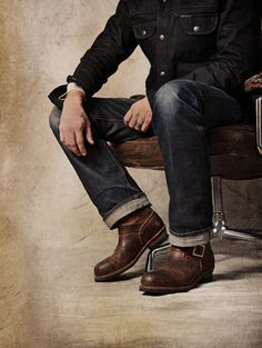 a9899834806 mens style engineer - Google Search Denim Boots