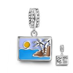 SOUFEEL Postage Stamp Dangle Charm 925 Sterling Silver Fit European Bracelets and Necklaces. SOUFEEL products are genuine S925 Sterling Silver. The material of the item consists of 92.5% silver combined with other metals; 100% safe for sensitive skin. Most items are in stock in US Local Warehouse. SOUFEEL charms' hole size is between 4.2mm-5.5mm. Most charms and beads are compatible with most U.S. and European bracelets and necklaces. SOUFEEL products have no screw threads inside…