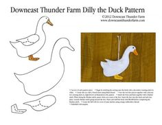 Felt Duck Pattern