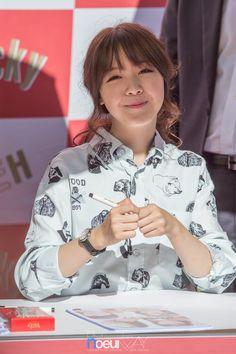 Girl's Day MinAh / Her bangs.