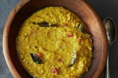 A Simple Homey, Coconut-y Red Lentil Dal -- the kind of meal to make yourself in between heavy holiday eating.