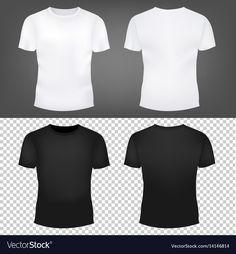T-shirt template set Royalty Free Vector Image , 3d T Shirts, Sports Shirts, Design Kaos, T Shirt Png, Spiderman, T Shirt Design Template, T Shirt Image, Urban Outfits, Apparel Design