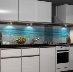 Die 52 besten bilder von k chenr ckwand glass kitchen for Nischenverkleidung glas