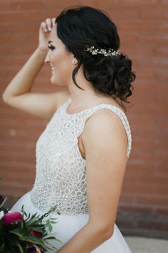 Glam beaded bodice wedding dress: http://www.stylemepretty.com/minnesota-weddings/minneapolis/2016/05/26/this-couple-planned-the-ultimate-indoor-garden-party/   Photography: Melissa Oholendt - http://melissaoholendt.com/