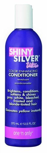 Conair PRO Shiny Silver Ultra Conditioner is specially formulated to eliminate yellow and brassiness in white and gray hair. ~z~3