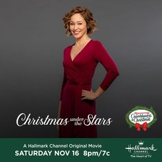 Hallmark Movies, Hallmark Channel, Original Movie, Under The Stars, Christmas Movies, Astronomy, Short Hair Styles, Wrap Dress, Teacher