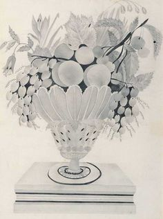 Vase of Fruit Artist unidentified New England Watercolor and pencil on paper 14 x 10 in.